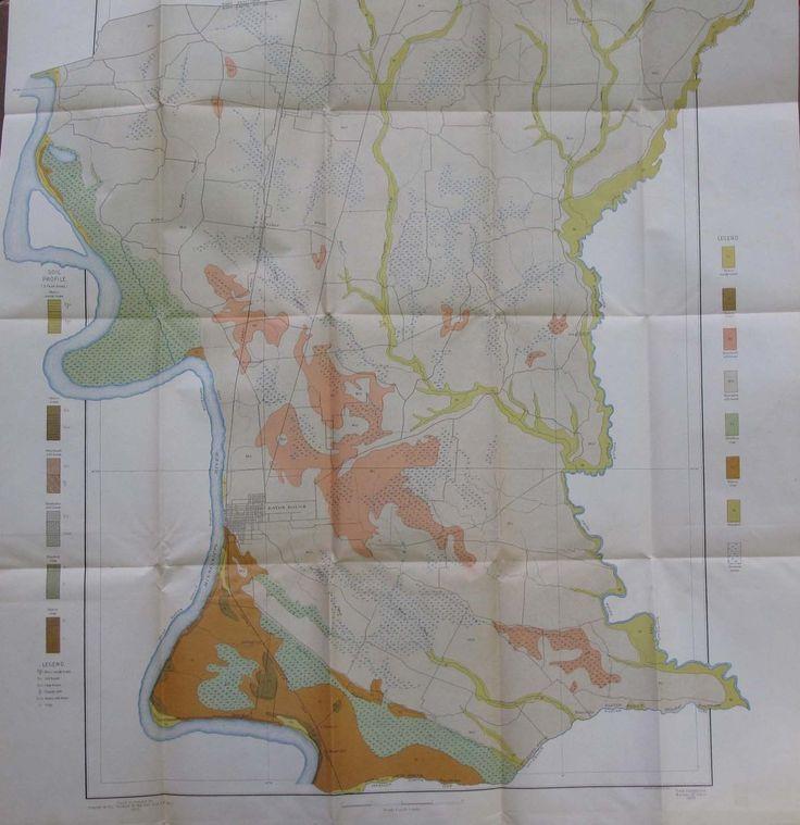 Folded Color Soil Survey Map East Baton Rouge Parish Louisiana Zachary 1905…
