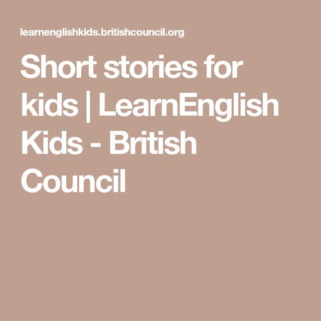 Short stories for kids | LearnEnglish Kids - British Council