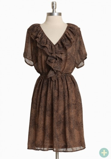 ruche  (although i usually avoid polyester whenever possible.  i'd live in linen if i could)Curvy Dresses, Prints Dresses, Style, Prints Curvy, Beautiful Dresses, Woodlynn Prints, Animal Prints, Ruffles Dresses, Chiffon Dresses