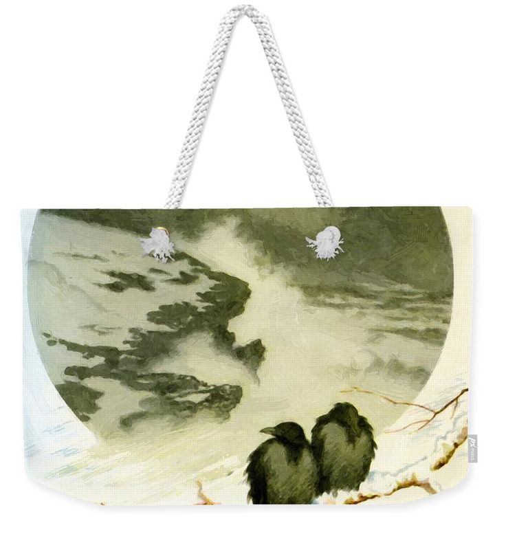 March Weekender Tote Bag featuring the painting March 1890 by Kittelsen Theodor Severin