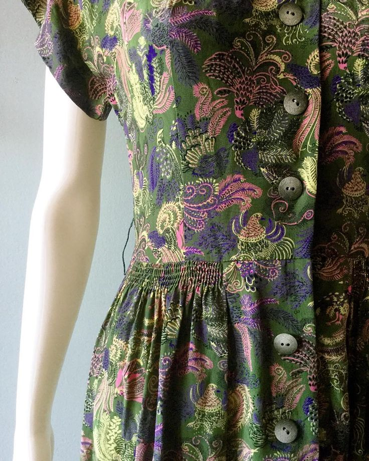 Coming soon! 1940's Green Paisley beauty. Size Small. # ...