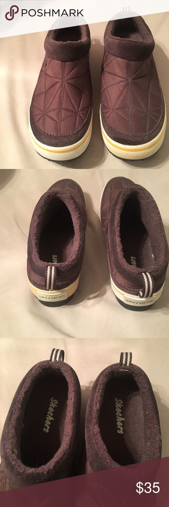 Skechers slip on rubber sole walking shoe. Skechers slip on rubber sole walking shoe. Sz 8.5 Excellent, like new condition. These are very comfy and stylish.' Shoes