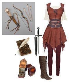 Mittelalterlicher Bogenschütze von lighterbee auf Polyvore mit Polyvore-Modestil Vero Moda Damenbekleidung Damenmode-Frauenfrau vermisst Junioren