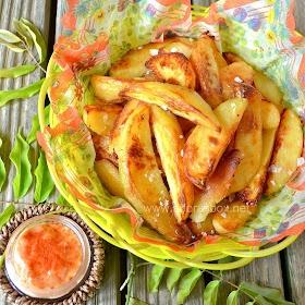 Patatas Bravas - roasted Spanish tapas potatoes