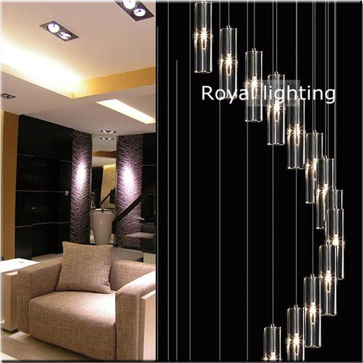 Awesome Aliexpress Koop Lange trap kristallen kroonluchter lichten M lampen grote Europa