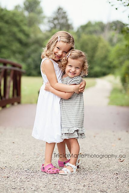 siblings....awwww, sweet sisters!!  Although we are now grown, it makes me think of when we were that age and reminds me of how much I love my sister today!! Mpp