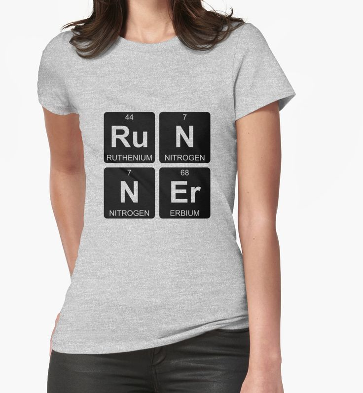 Ru N N Er - Runner - Periodic Table - Chemistry by Jenny Zhang • This collection showcases a clever use of symbols of the chemical elements to form a word. • Also buy this artwork on apparel, stickers, home decor, and more.