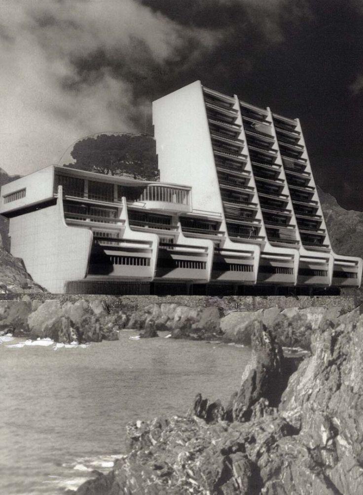 condominio a sanremo, 1949 carlo mollino. photomontage 18 x 24 cm