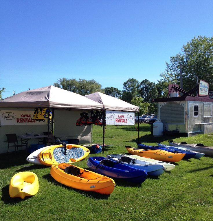 Rent a kayak at Tudhope Park in Orillia, ON.....or online at kayak-ity-yak.com