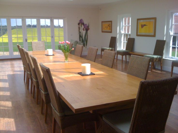 Large Dining Table Large Oak Table Huge Dining Table 14 Seater Dining Tabl