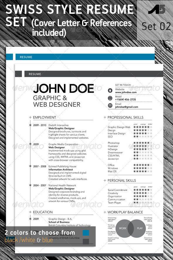 15 Photoshop & InDesign CV/Resume Templates | iDesignow