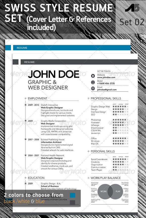 15 Photoshop  amp  InDesign CVResume