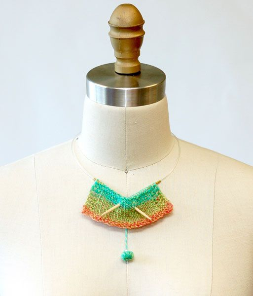 Diy Knitting Needle : Diy knit cessories necklace made out of knitting needles
