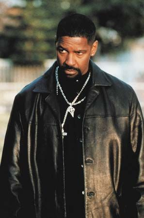 "Training Day. When this first came out, I had to watch it twice because it was the 1st time I saw Denzel playing a ""bad"" guy. Ethan Hawke plays an incredible role as well."