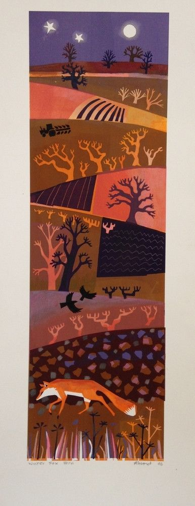 """Winter Fox"" by Carry Akroyd (screenprint)"
