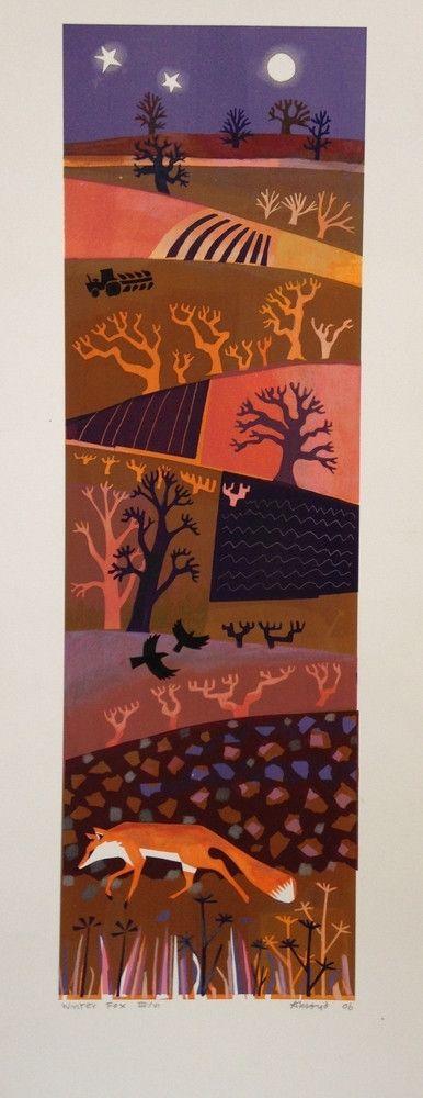 """Winter Fox"" by Carry Akroyd (screenprint)"