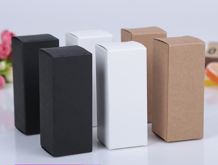 Cheap Box For Buy Quality Box For Essential Oils Directly From China Box Box Suppliers 50pcs Lot Bla Kraft Paper Packaging Black Kraft Paper Bottle Packaging