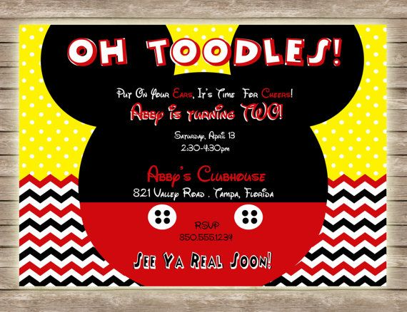 17 Best images about Mickey Mouse Clubhouse Birthday Party on – Mickey Mouse Clubhouse Birthday Invites