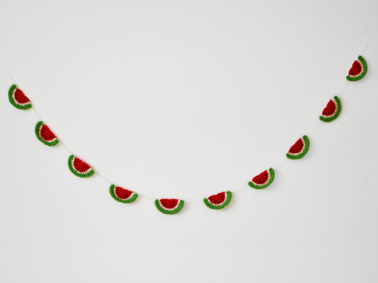 Bandeirola de crochê - Melancia