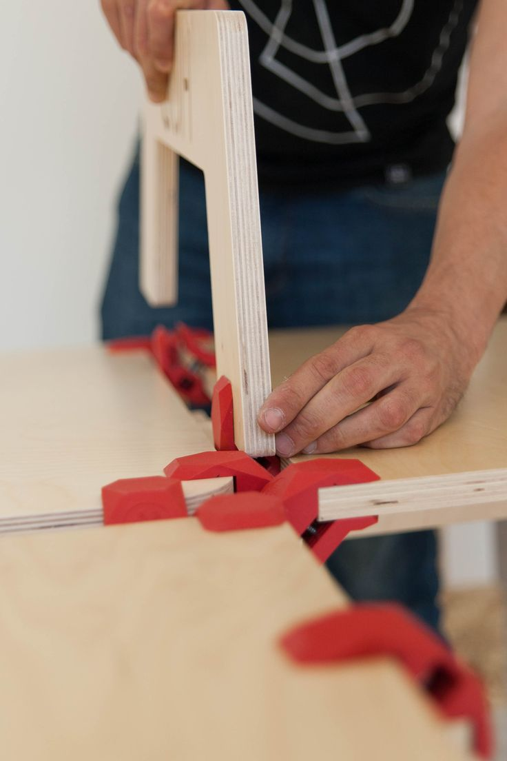 DIY Furniture by PlayWood, open source digital design and DIY, providing (free) downloadable files of custom furniture joints for 3D printing (nylon plastic, acrylic based polymer or metal are recommended), which are then fitted with standard dimension lumber of your choice, to assemble the designer pieces.