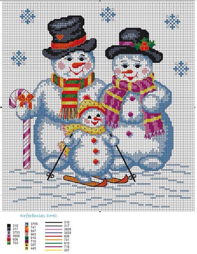 Схемы для вышивки крестом открытки с новым годом