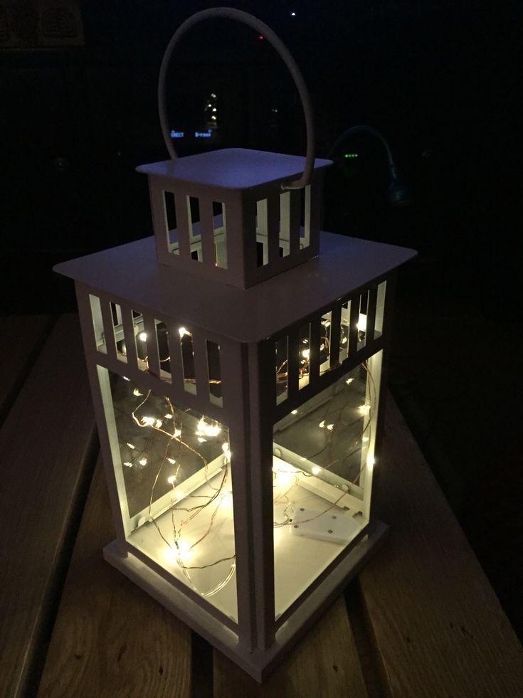 Night Light Made Of Ikea Lantern And Battery Powered Mini