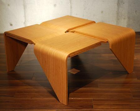 magaru origami table puzzle furniture pinterest origami table origami and square tables. Black Bedroom Furniture Sets. Home Design Ideas
