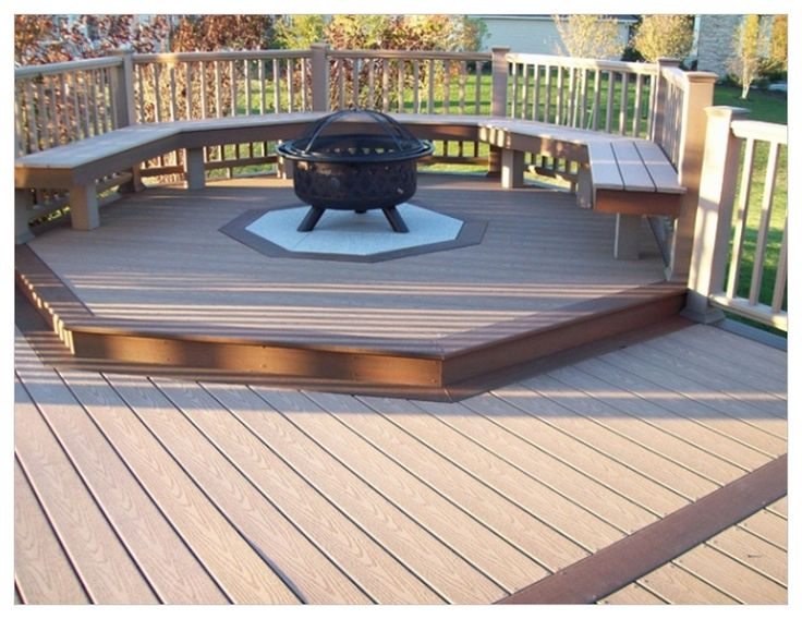 Best Fire Pit on Wood Deck Ideas - http://www.windwishes.com/best-fire-pit-on-wood-deck-ideas/ : #DeckIdeas When making a fire pit on wood deck, fire safety should be a priority. Making stone fire pit can help reduce risk of fire, especially if a gas cooker kit is used. These kits come with fire ring propane as fuel and ceramic logs, which mean no ashes to dispose of or floating embers. When making a...
