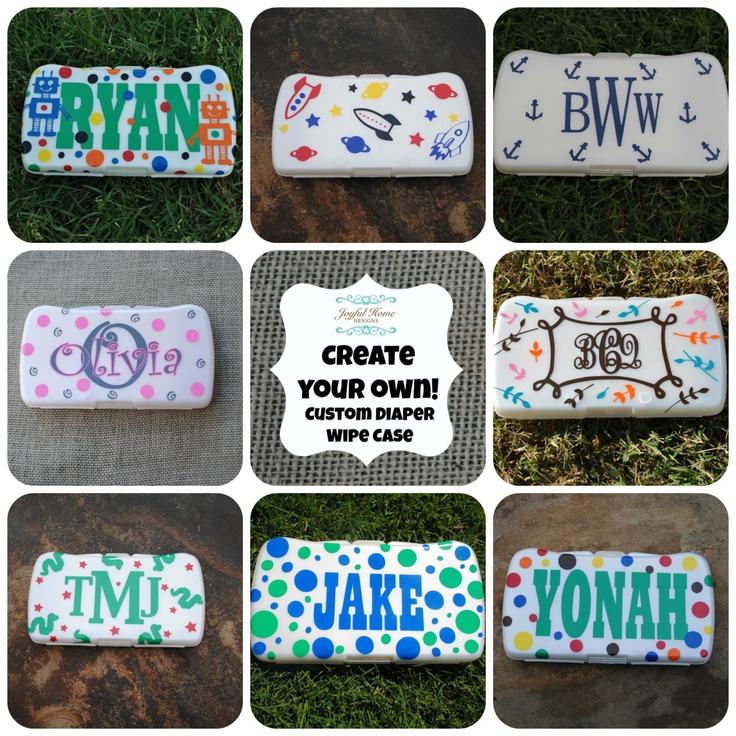 63 best custom baby wipe cases images on pinterest cricut custom baby wipes case via etsy negle Choice Image