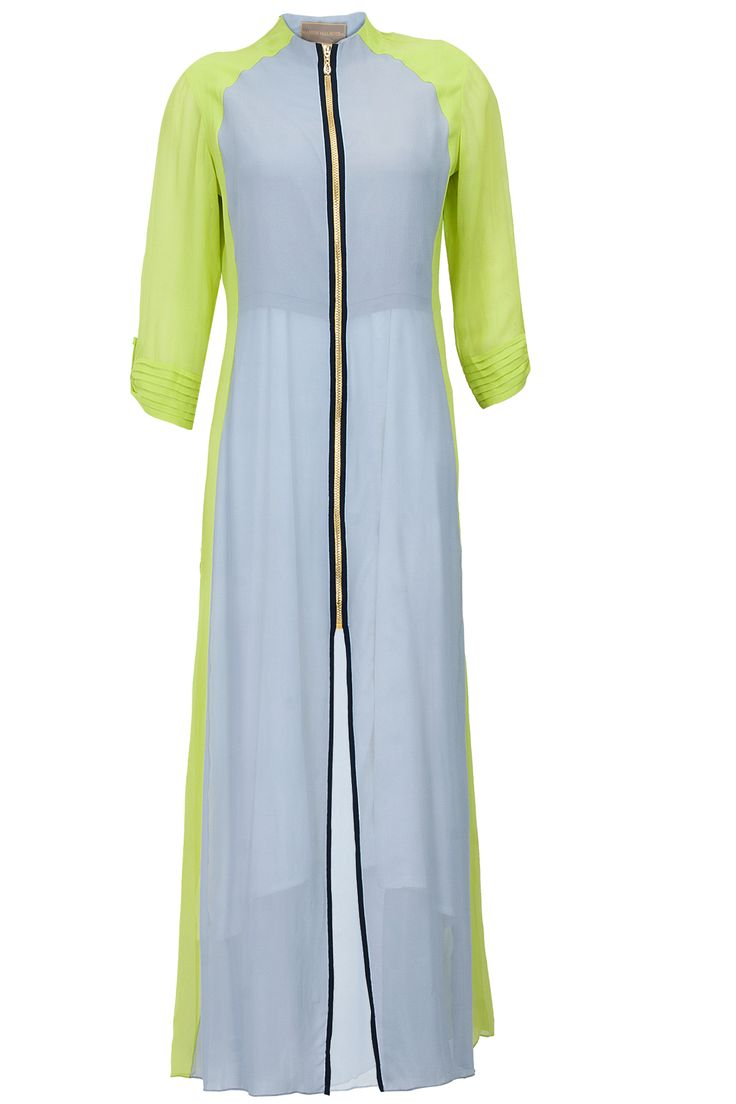 Grey and lime green tunic available only at Pernia's Pop-Up Shop.