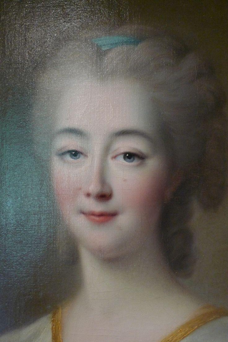 Madame Du Barry (1743-1793), detail of 1772 Drouais portrait
