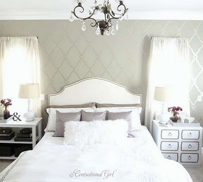 beautiful totally not practical lol: Diy Ideas, Guest Bedrooms, White Bedrooms, Diy Headboards, Master Bedrooms, Guest Rooms, Upholstered Headboards, Headboards Shape, Accent Wall