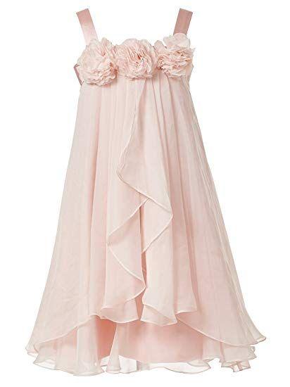 862d07419ba60 princhar Girl's Blush Pink Flower Girl Dress Girls Toddler Party Dresses US  5T Blush