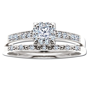 Spectacular Princess Cut Bridal Set Absolutely gorgeous