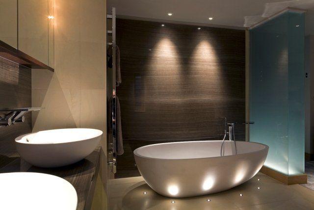... de bain moderne- comment choisir léclairage?  LED et Décoration