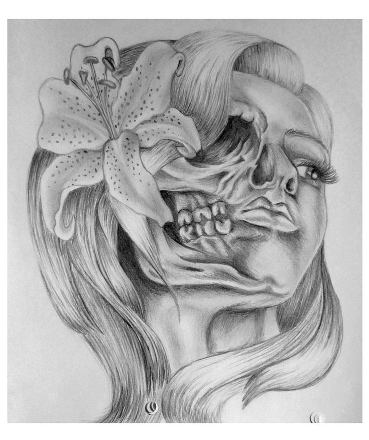 Skull Girl Tattoo Design by AbigailRawlings.deviantart.com on @deviantART