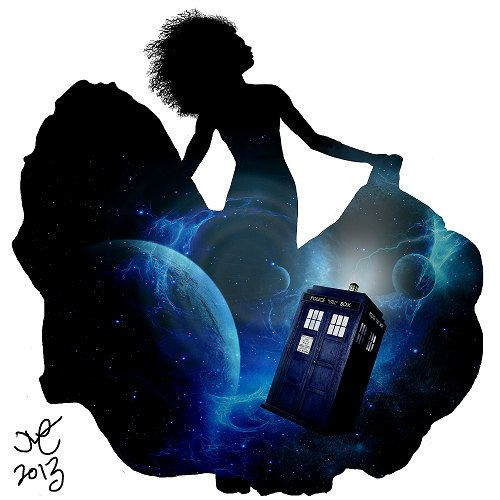 8x10 River Song High Quality Print by JoannaMSilhouetteArt on Etsy, $8.00