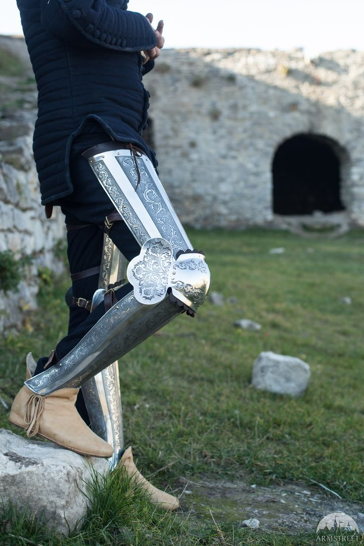 "Medieval Armor Legs ""Knight of Fortune"" Etched"