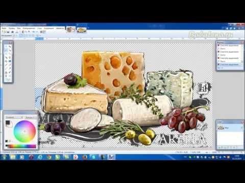 Создаем принт для сырной досочки в Paint.Net._Create a print for cheese dosochki in Paint.Net
