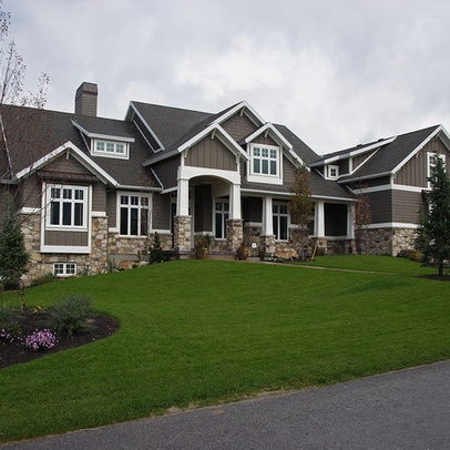 Olive brown white exterior paint pinterest paint colors craftsman and paint Brown exterior house paint schemes