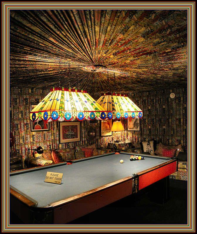 Pool Room at Graceland, Memphis, Tennessee  Elvis Presley #ElvisSerendipity #Elvis #Presley