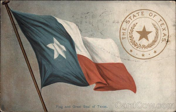 Flag and Great Seal of Texas State Flowers & Seals