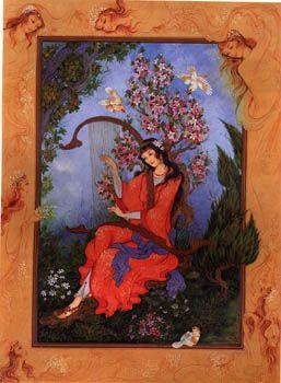 Persian miniature by Roya Mirbod