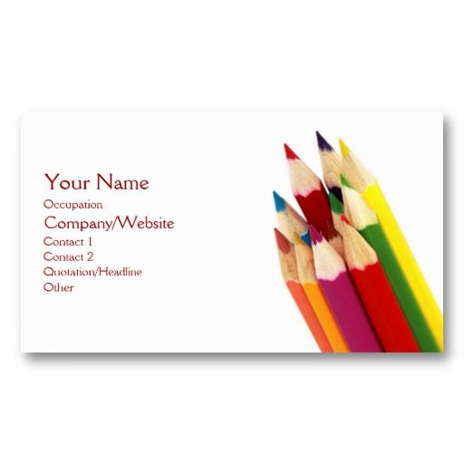 Best Business Cards For Teachers Images On Pinterest Teacher - Teacher business card template