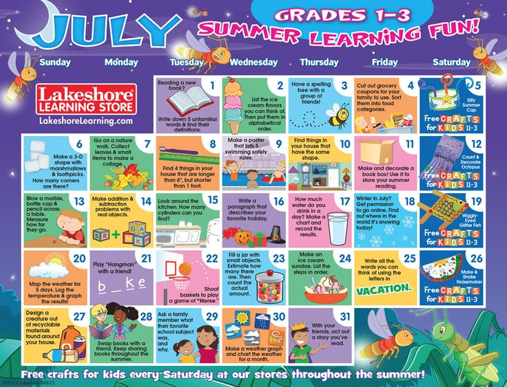 Kids Learning Calendar : Best summer mommy daycare images on pinterest