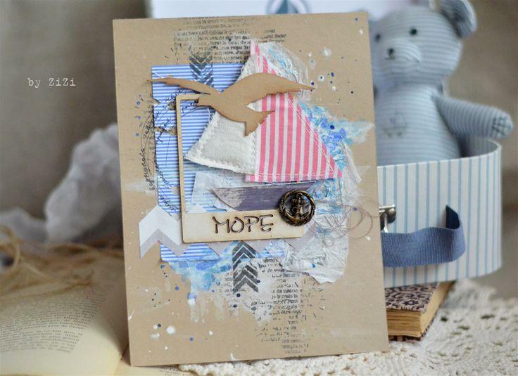 Танюшке юбилеем, открытка в морской тематике