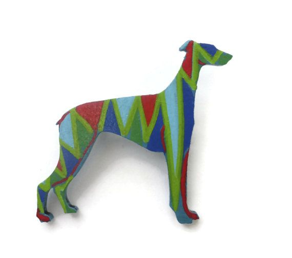 Greyhound Brooch Greyhound Jewelry Greyhound Gift by Larryware