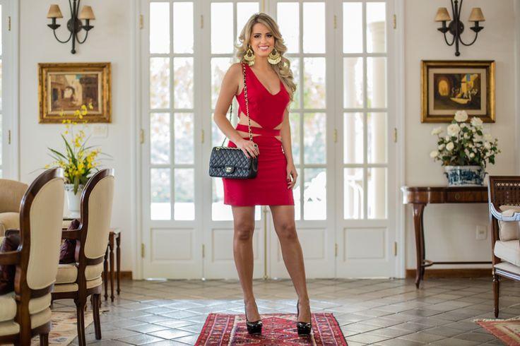 Marina Casemiro, look, night, vestido, vermelho, recortes, máxi brinco, tendencia, amarena, ribeirao preto, blog, fashion blog, look noite-2
