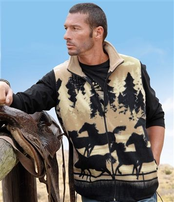 Gilet Polaire #atlasformen #western #cowboy #discount #collection #shopping