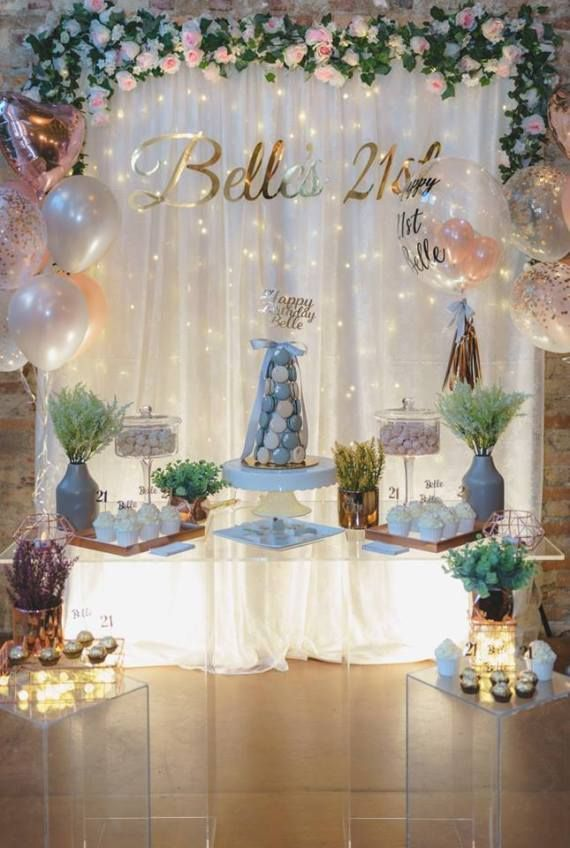 Elegant Glam 21st Birthday 21st Birthday Decorations 21st